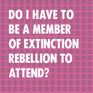 Do you have to be a member of XR to attend? - Image 1